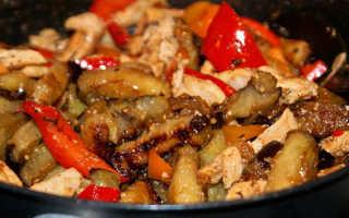 Баклажаны с курицей: приготовление блюд