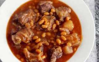 Свинина с фасолью в томатном соусе: рецепт приготовления