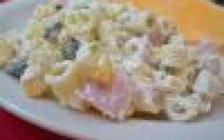 Итальянский салат с макаронами и ветчиной: рецепт
