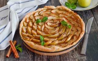 Как испечь в духовке яблочный пирог из слоеного теста