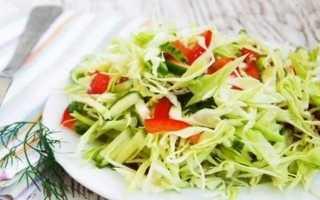 Салат из свежей капусты с огурцом/ Рецепт с пошаговым фото