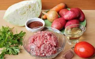 Тушеная капуста с картошкой и фаршем — комбо для любителей вкусно поесть. Классическое овощное рагу на скорую руку!