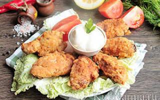 Рецепт куриных крылышек в кляре