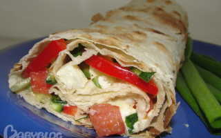 Вегетарианская шаурма: лучшие рецепты овощной шаурмы по шагам