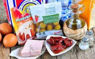 Маффины с ветчиной и сыром: пошаговый рецепт с фото