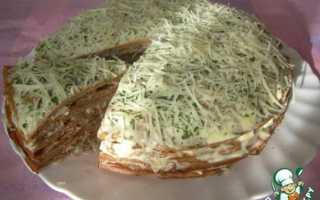 Печеночный торт из куриной печени-рецепт с молоком и несколько видов начинки
