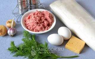 Рулет из лаваша с фаршем: 4 рецепта (в духовке, на сковороде)