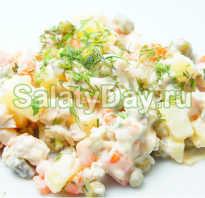 Салат оливье с куриной грудкой: рецепт