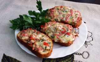 Горячие бутерброды с колбасой и сыром в духовке – 6 вкусных, пошаговых рецепта