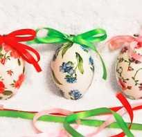 Как сделать пасхальное яйцо в стиле декупаж