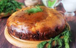 Пирог заливной с фаршем / Рецепт с фото