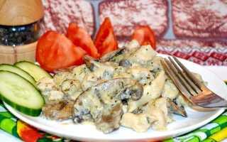 Куриное филе в сливочном соусе с грибами рецепт с фото
