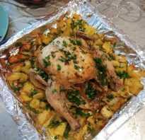 Рецепт курицы в духовке целиком с картошкой