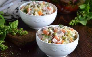 Зимний салат — классический рецепт, с колбасой и огурцами