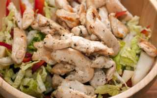 Салат с пекинской капустой и куриной грудкой — 9 рецептов