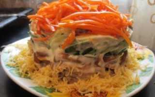 Простое и сложное блюдо – салат с корейской морковью и грибами. Готовим салат: корейская морковь, грибы … что ещё?
