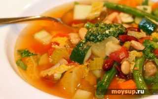 Красивый и разноцветный – итальянский суп Минестроне