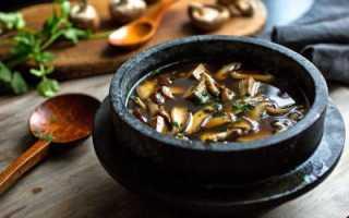 Приготовление супа из сушеных грибов с вермишелью