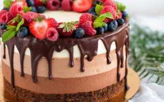 Пошаговый рецепт приготовления муссового торта три шоколада