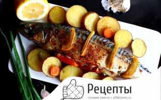 Как приготовить скумбрию, запеченную в духовке с картошкой?