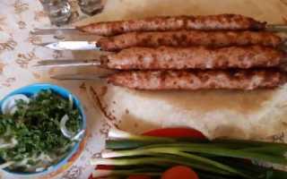 Рецепт люля кебаб на мангале из говядины