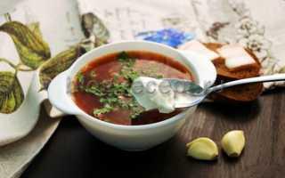 Бесподобно вкусный красный борщ с фасолью и капустой