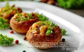 Фаршированные шампиньоны в духовке с сыром – эффектные грибочки! Рецепты фаршированных шампиньонов в духовке с сыром и не только