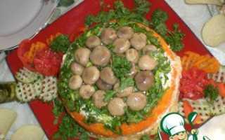Салат грибная поляна с копченой курицей – Год 2019