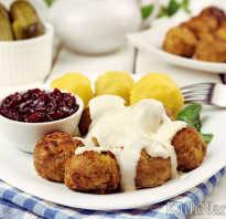 Шведские фрикадельки: рецепт