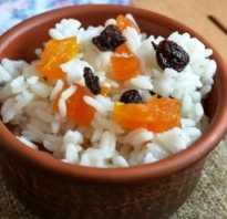 Рисовая каша с изюмом