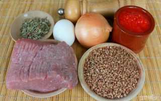 Как сделать гречаники с фаршем в томатном соусе по пошаговому рецепту с фото