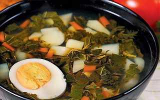 Суп из крапивы и щавеля: рецепты приготовления с мясом и яйцом