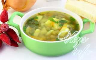 Суп с консервированным зеленым горошком