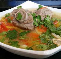 Рецепт супа из баранины с пшеном