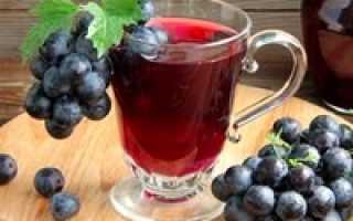 Виноградный компот из винограда – 7 домашних вкусных рецептов