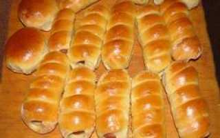 Пирожки и булочки с сосиской внутри: простые рецепты