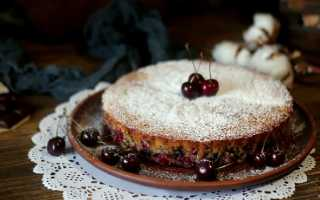 Пирог с вишней – 10 рецептов вишневого пирога с фото