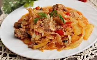 Тушеная капуста с мясом и картошкой – простое сытное блюдо для всей семьи!