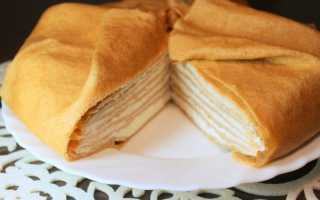 Блинный торт — 7 рецептов как приготовить блинный торт