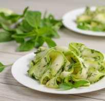 Салаты из свежих кабачков: простые и вкусные рецепты с сырыми кабачками