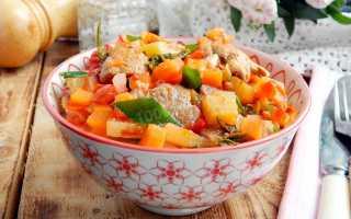 Рецепт индейка с овощами тушеная