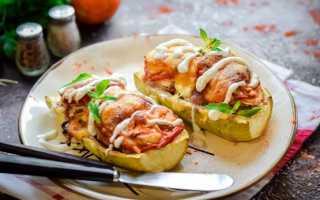 Запеченные кабачки в духовке— рецепты с фаршем, сыром, овощами, помидорами, грибами