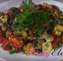 Теплый салат с грибами: 3 лучших рецепта
