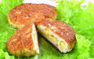 Пошаговый рецепт приготовления котлет с сыром