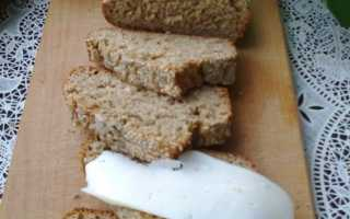 Хлеб без дрожжей из цельнозерновой муки грубого помола