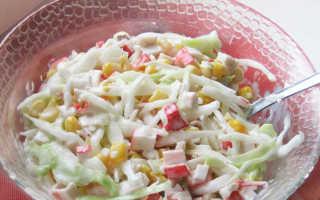 Крабовый салат с капустой — 6 рецептов приготовления