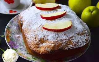 Традиционная шарлотка в хлебопечке – простой пирог в новом легком экспресс исполнении
