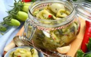 И зимой будет жарко. острый салат из зеленых помидор – для тех, кто любит пикантный вкус