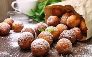 Творожные пончики. Пошаговый рецепт с фото