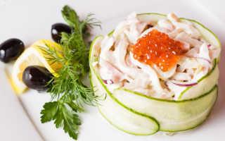 Салат из кальмаров — 13 рецептов приготовления